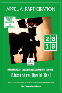 Automne photographique en Champsaur - Dialogue avec Alexandra David Néel - 2018 - Regards Alpins